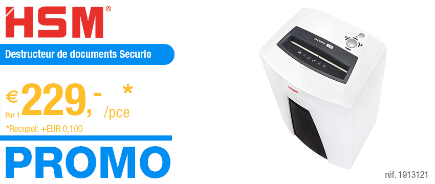 HSM Destructeur de documents Securio C18