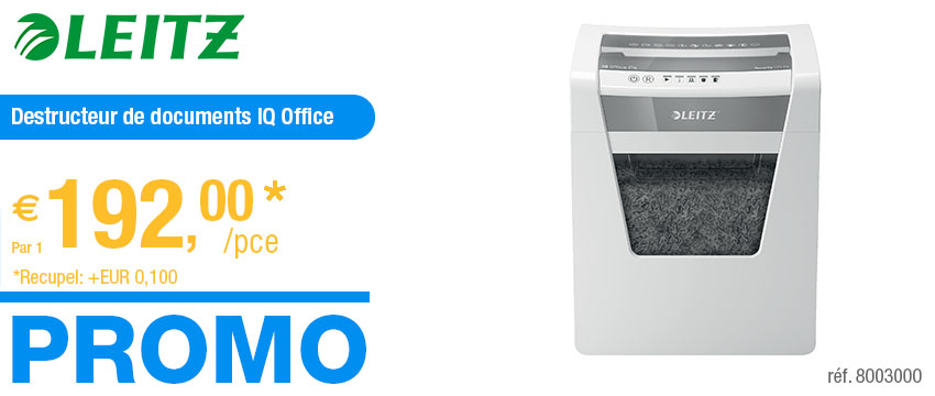 Leitz Destructeur de documents IQ Office P4
